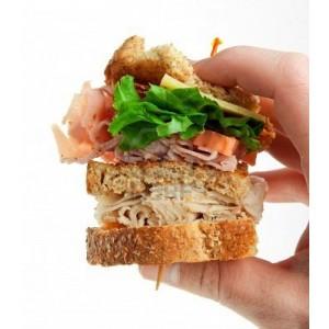 Sliced Deli Club Sandwiches