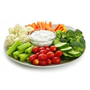 Sliced Vegetable Platter
